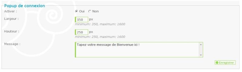 Comment installer une fenêtre popup de bienvenue sur mon forum ? Screen10