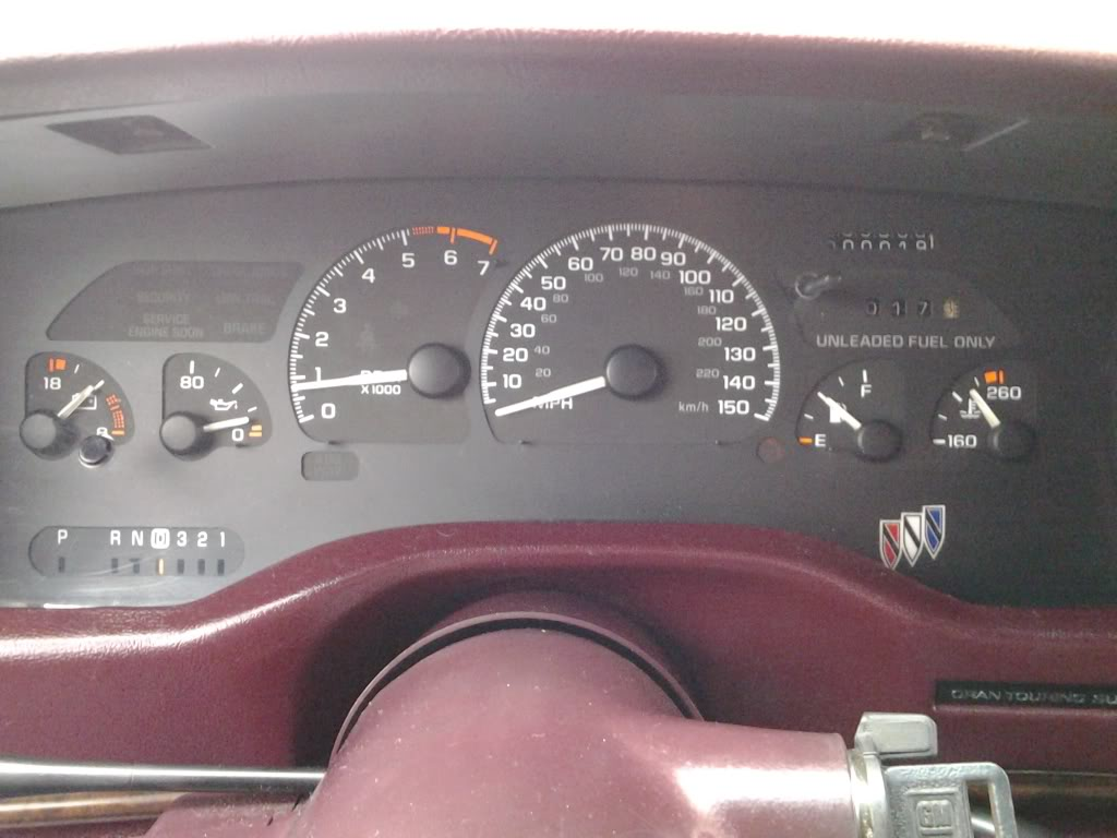 Camaro cluster in 95 roadmaster Dash610