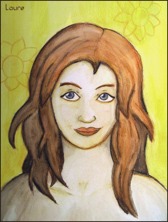 LA Fille aux Fleurs (Crayons aquarellables) Fillea10