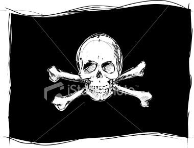 Il simbolo indissolubile dei pirati: IL JOLLY ROGER Ist2_710