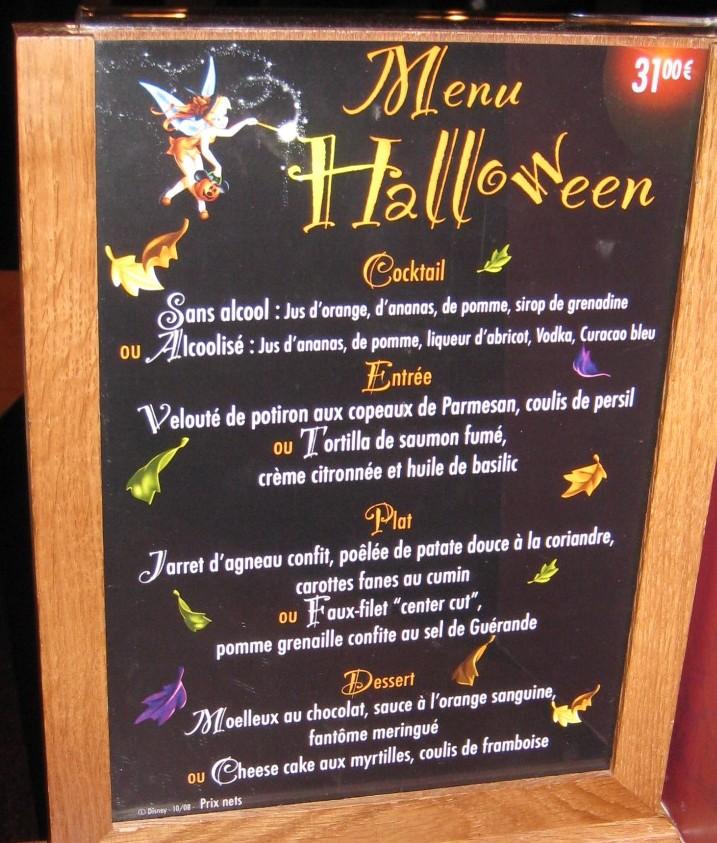 Menu spécial Halloween au Walt's et au Silver Spur Menu_h10