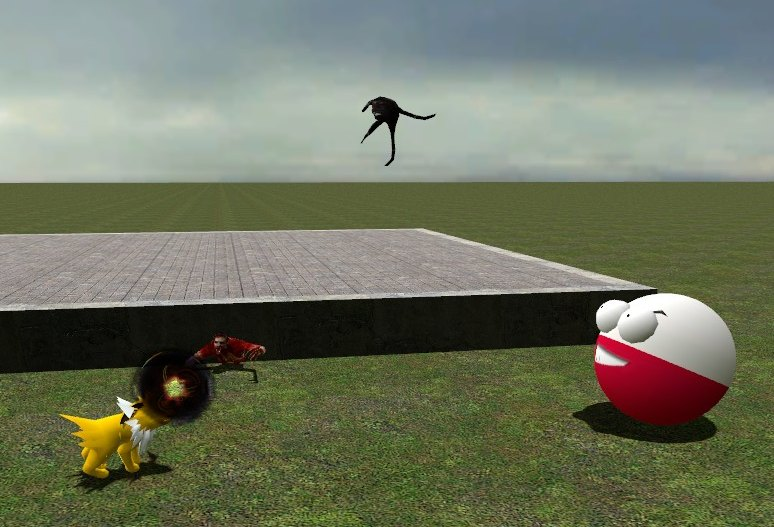 sometimes, pokeatch does poses with pokemon on garry's mod. Gm_fla11