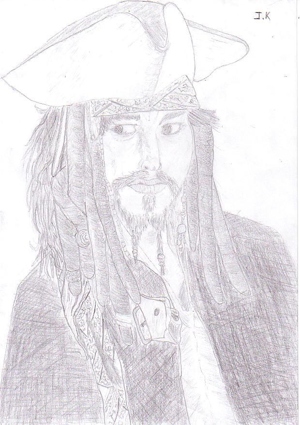 Portrait Capitaine Jack sparrow A10