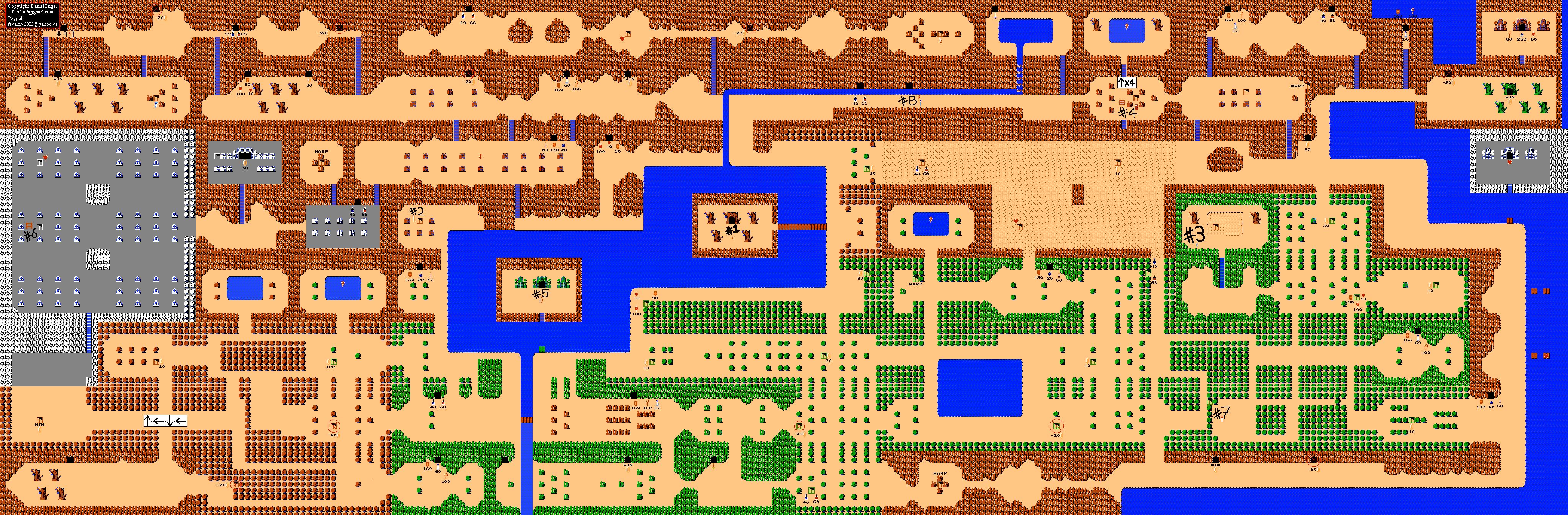 Classic NES Series - Legend of Zelda [Second Quest] - Dungeon guides Legend11