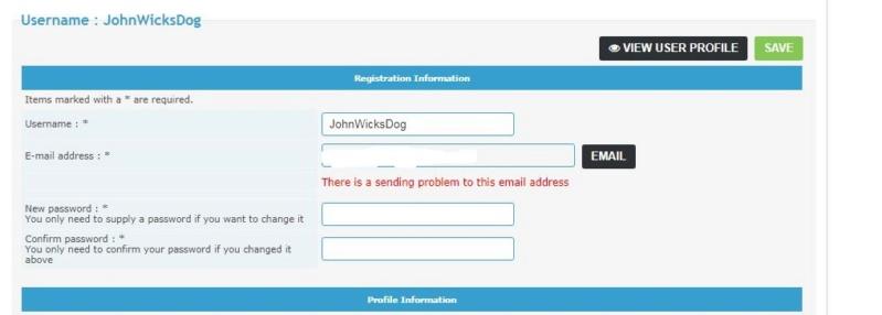 New Registration E-Mail Error 120