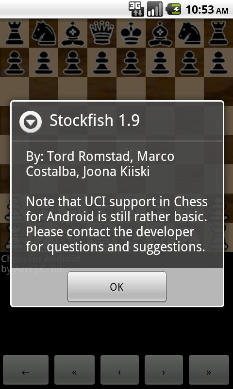 Stockfish 1.9 JA update available Stockf12