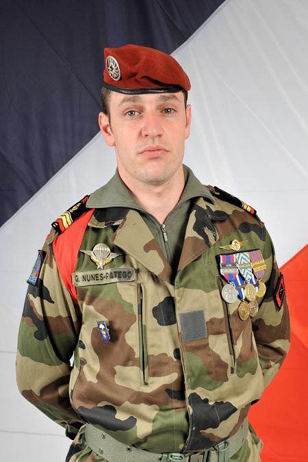 NUNES-PATEGO Guillaume 17e RGP -  59e soldat français mort au Champ d'Honneur en Afghanistan: caporal-chef Guillaume NUNES-PATEGO du 17e Régiment de Génie Parachutiste Nunes-10