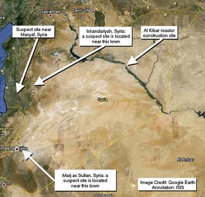 Soupçons d'activités nucléaires sur trois sites syriens Syrie-10