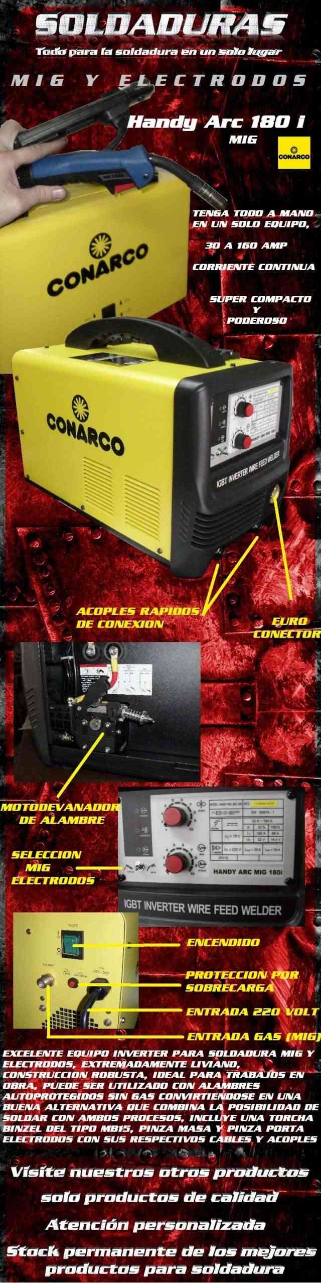 Conarco Handy ARC MIG 180i Test  Handy_10