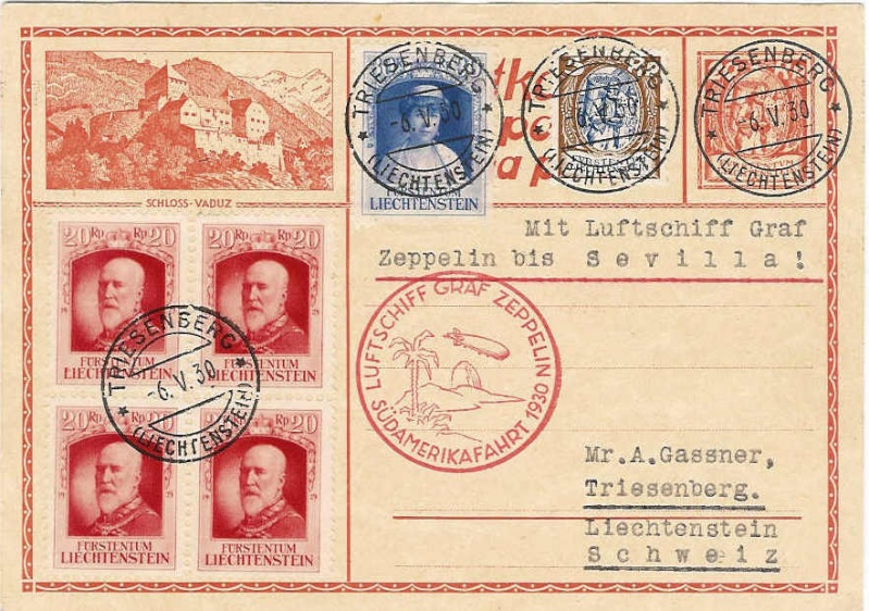 Liechtenstein - Zeppelin-Zuleitungspost 57_i_l10