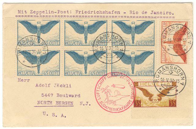 Liechtenstein - Zeppelin-Zuleitungspost 57_m_s10