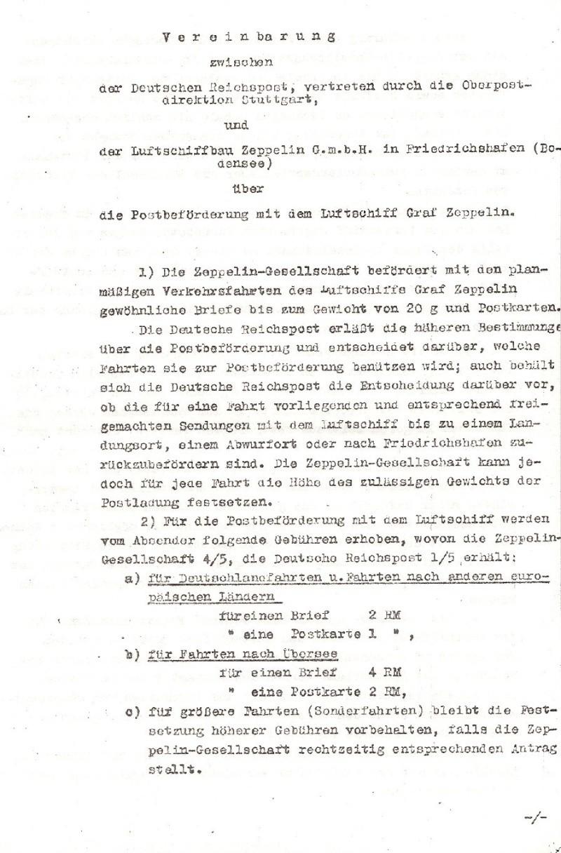 Liechtenstein - Zeppelin-Zuleitungspost Vertra10