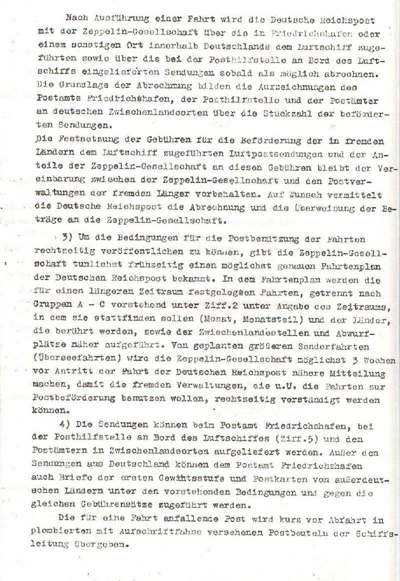 Liechtenstein - Zeppelin-Zuleitungspost Vertra11