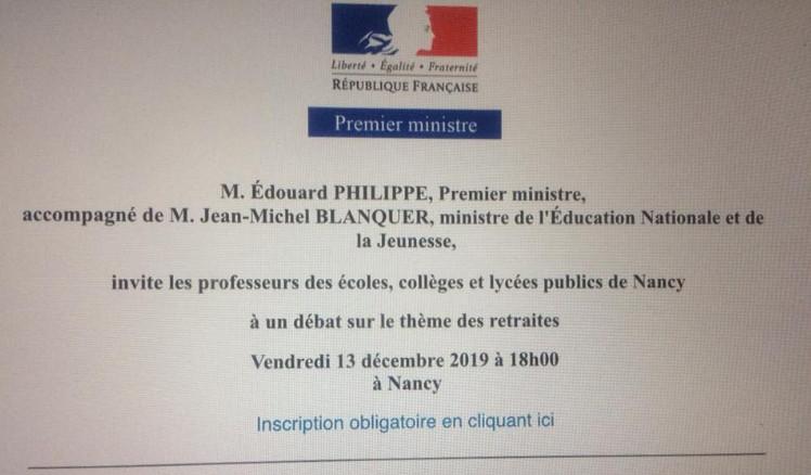 Collègues de la région de Nancy, merci de réserver un bon accueil à notre ministre Men10