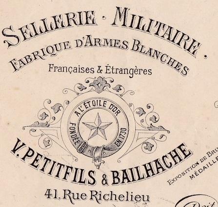 Renseignement sur un fabricant de coiffes militaires/civiles : Bailhache Paris 993_0010