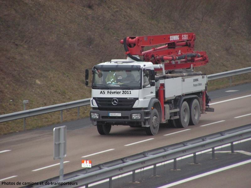 Pompes a beton + Camions malaxeur (Camions Toupie) Sur_l133