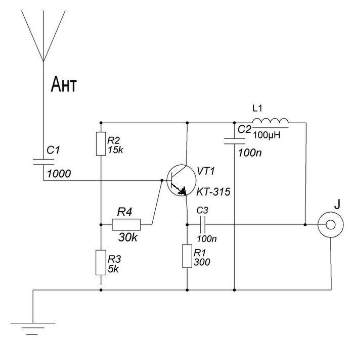 Простой приёмник прямого преобразования Ant1010