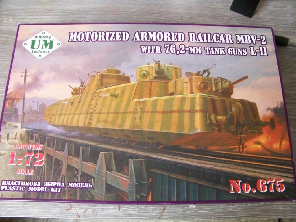 Motorized Armored Railcar MBV-2 au 1/72 de chez Military UM technics 100_5840
