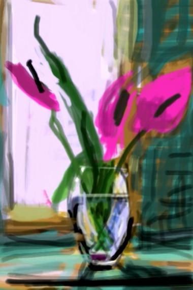 Les FLEURS  dans  L'ART Img_8810