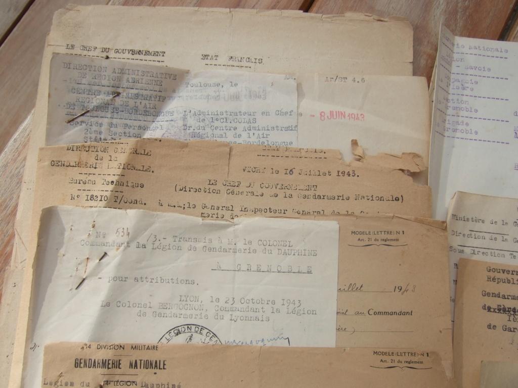 Tres beau lot papiers OFF Armee de l'air avant 40 et Gendarmerie 40 à 62 France,Afrique et autres -ALPINS-OCT1 ( Forte baisse ...) Dscf6053