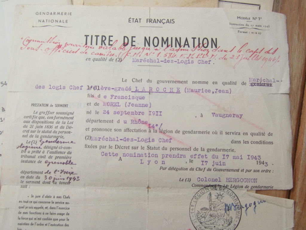 Tres beau lot papiers OFF Armee de l'air avant 40 et Gendarmerie 40 à 62 France,Afrique et autres -ALPINS-OCT1 ( Forte baisse ...) Dscf6064