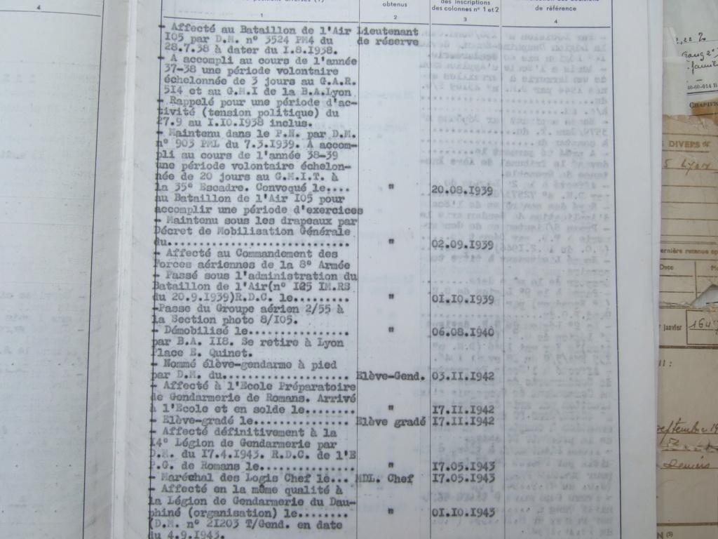 Tres beau lot papiers OFF Armee de l'air avant 40 et Gendarmerie 40 à 62 France,Afrique et autres -ALPINS-OCT1 ( Forte baisse ...) Dscf6071