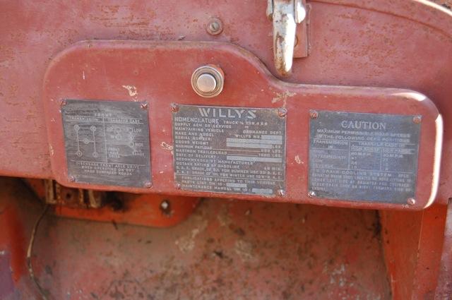 Willys MB - 1943 Plaque10