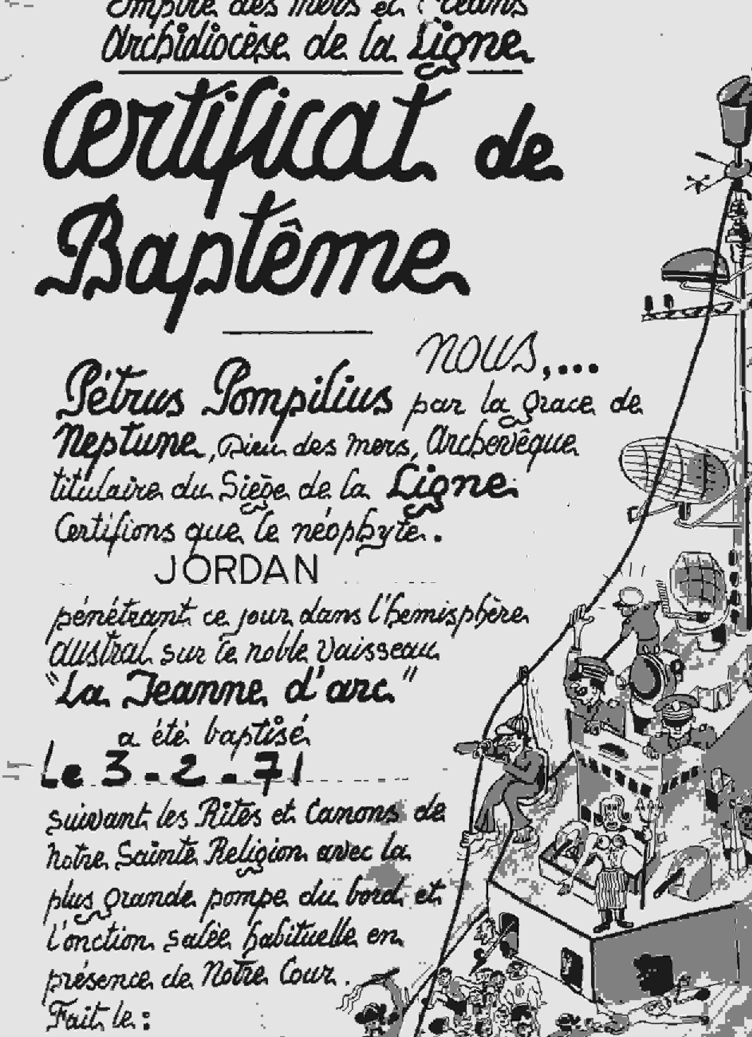 [ Les traditions dans la Marine ] LE PASSAGE DE LA LIGNE - ÉQUATEUR (Sujet unique) - Page 10 Certif10