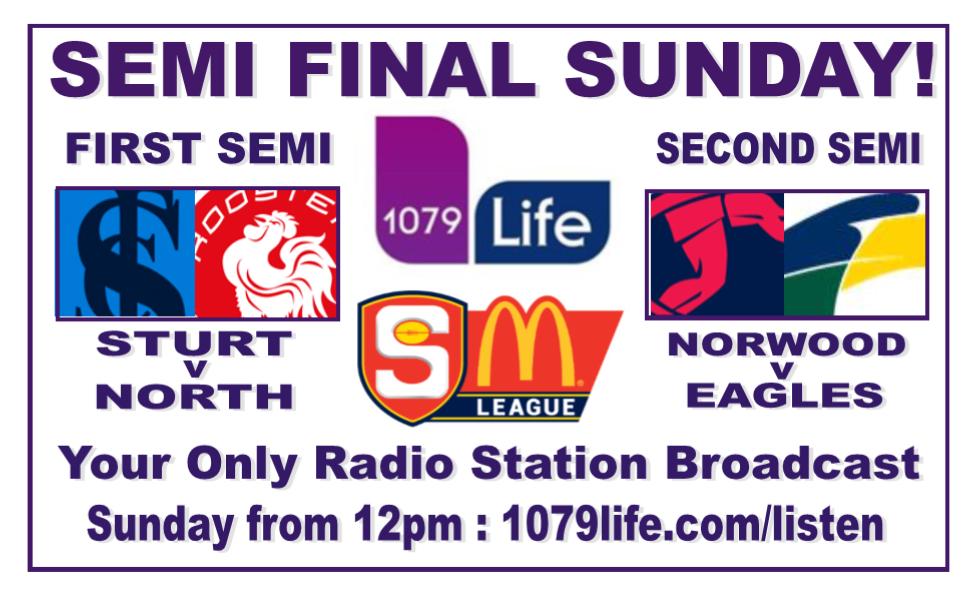 1st Semi Final: Sturt v North - Sunday 9 September @ Adelaide Oval Finals10