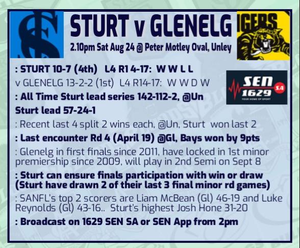 Round 18: Sturt v Glenelg Rd_18_12