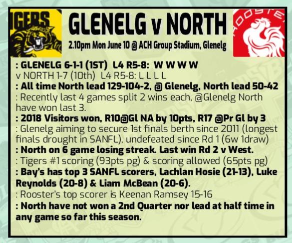 Glenelg v North Round 9 Rd_9_g10