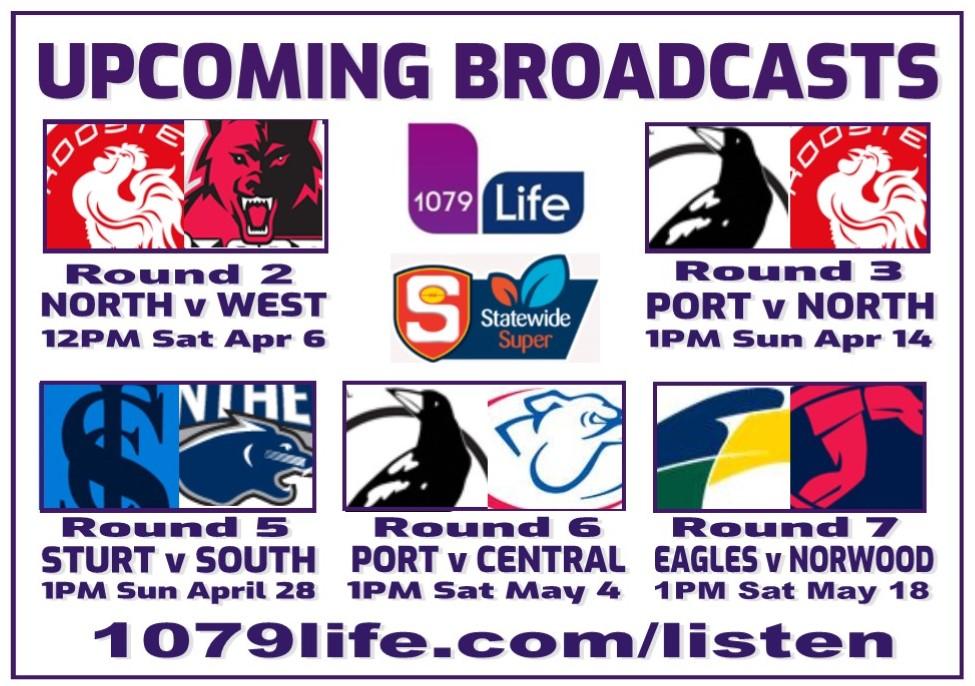 SANFL Broadcast Details Upcomi10