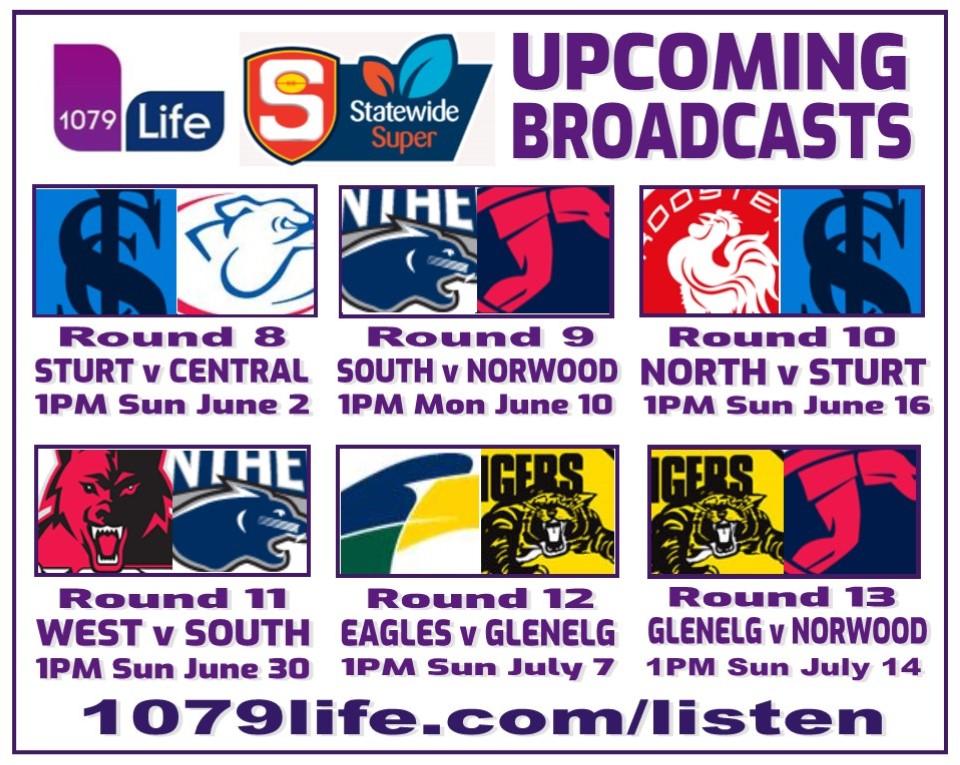 SANFL Broadcast Details Upcomi11