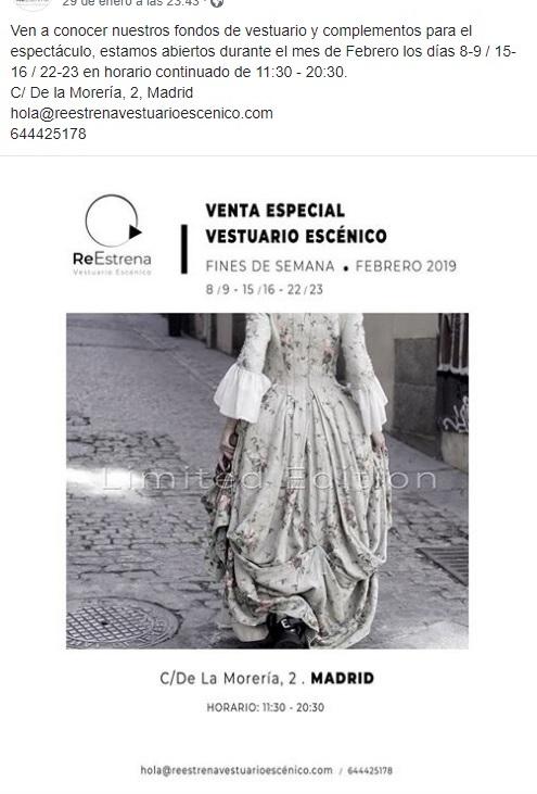 Venta especial de Vestuario Escénico  Venta_10