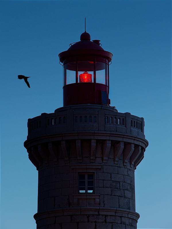 Sommet du phare à l'heure bleue Lumix_14