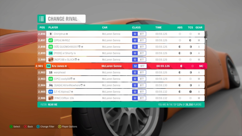 *RESULTS UP* FH4 Time Attack | Monthly Rivals - McLaren Senna 1c3d1210
