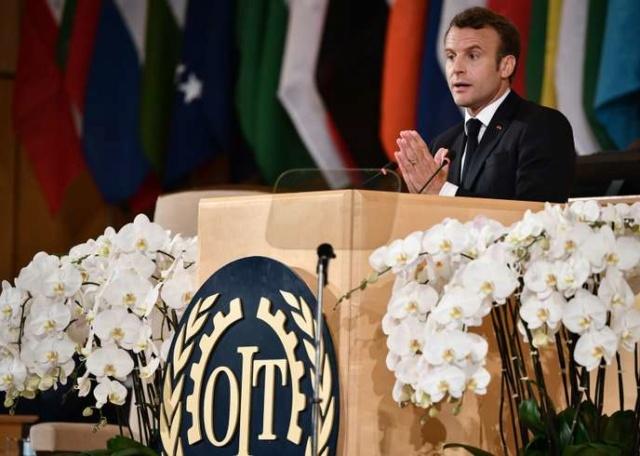 A #Genève, #Macron dénonce les dérives d'un « #capitalisme devenu fou » C75c0a10