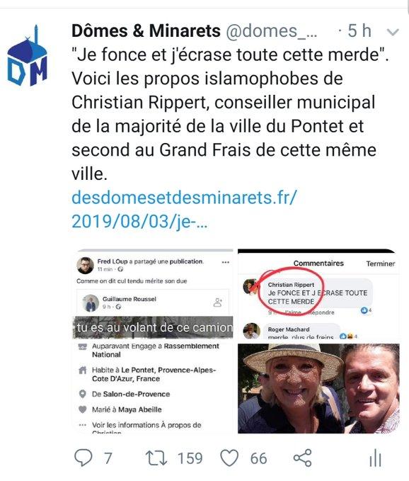 """Un #élu du #Vaucluse sur les #prières de rue: """"Je fonce et j'écrase toute cette merde"""" Ebeflm10"""