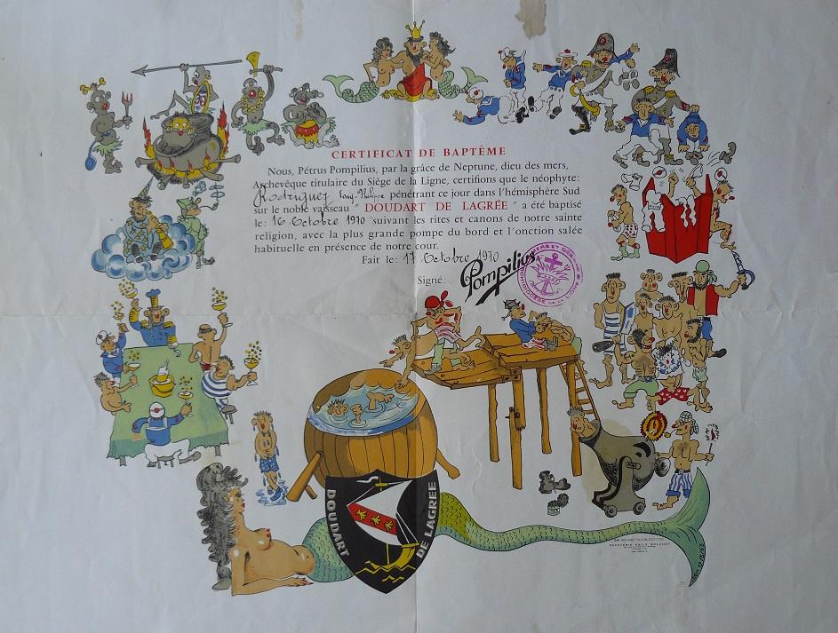 [ Les traditions dans la Marine ] Les diplômes de la Ligne - Page 5 Baptzo11