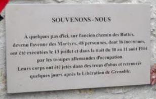 [ Histoire et histoires ] Commémoration : Il y a 75 ans la libération de Grenoble Martyr10