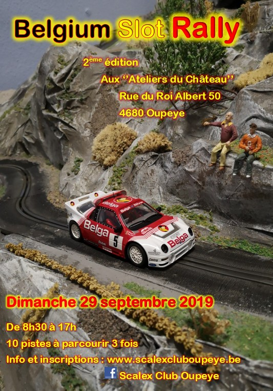Belgium Slot Rally 2019 Affich10