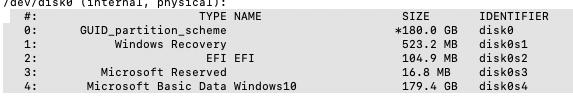 Cacher aprtitions windows dans le Clover boot menu Captur13