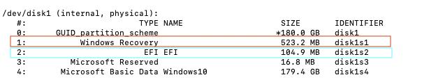 Cacher aprtitions windows dans le Clover boot menu Captur14