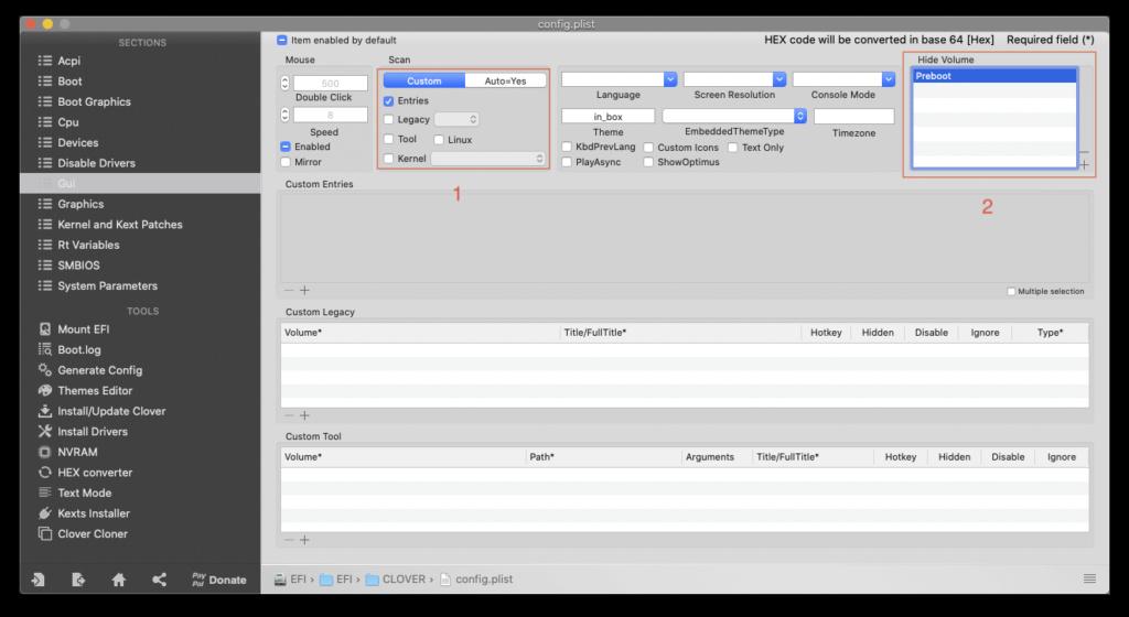 Cacher aprtitions windows dans le Clover boot menu Gui10