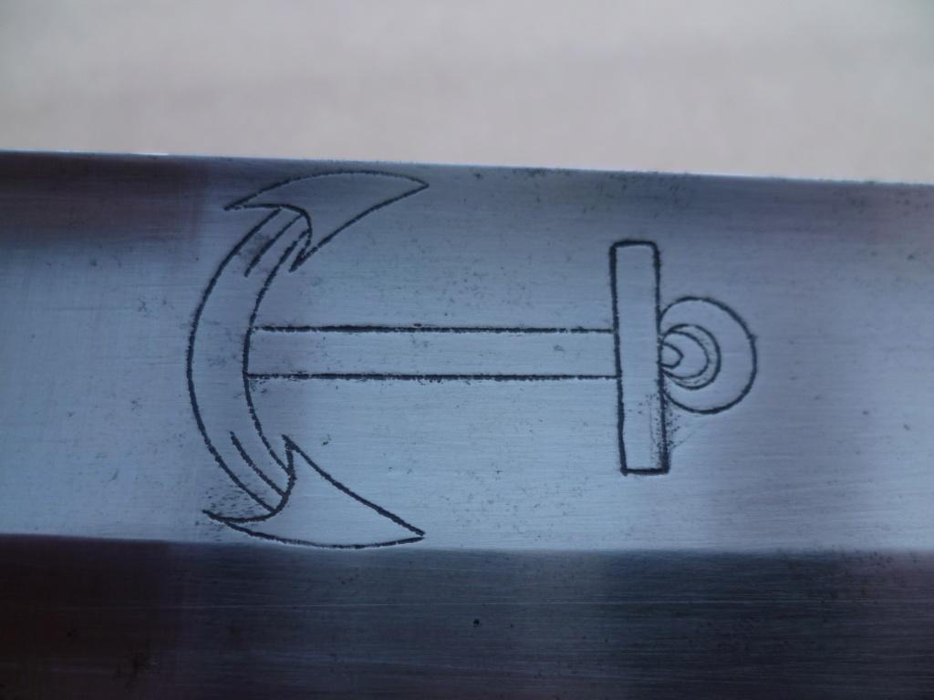 Sabre de bord lames an X sur le modèle 1833 36311