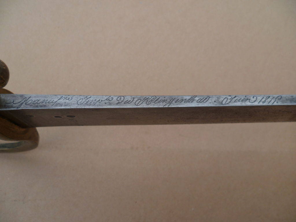 "Sabre Briquet ""Versailles"" Juin 1815 avec sa cravate 74710"