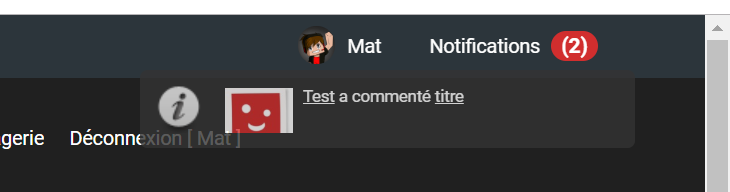 Avatar dans les notifications Avatar10