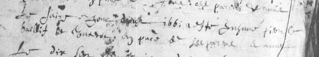 décès - Aide à la lecture Décès de Pierre LEBAILLIF 16/08/1661 Vattetot-sur-mer Captur10