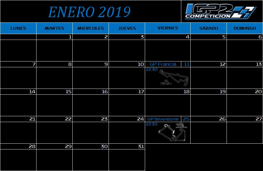 Calendario Enero10