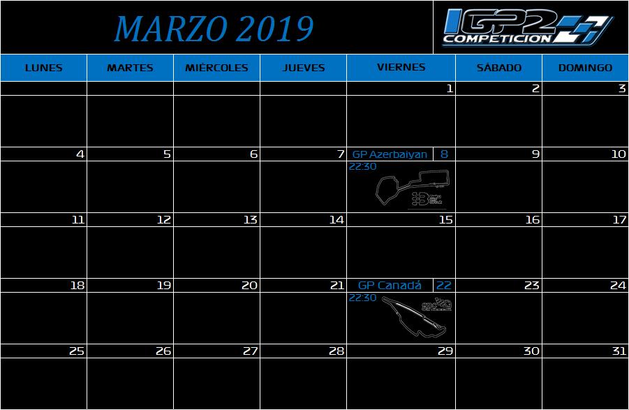 Calendario Marzo10
